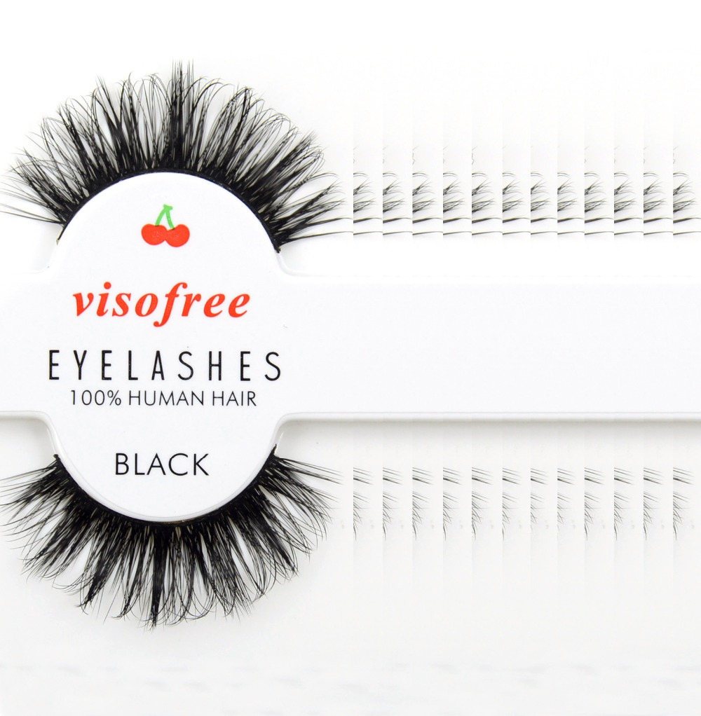 12 Pairs/lot Visofree Eyelashes Extension Dramatic Soft Human Hair False Eyelashes Makeup Beauty Tools Eyelash Extension #29