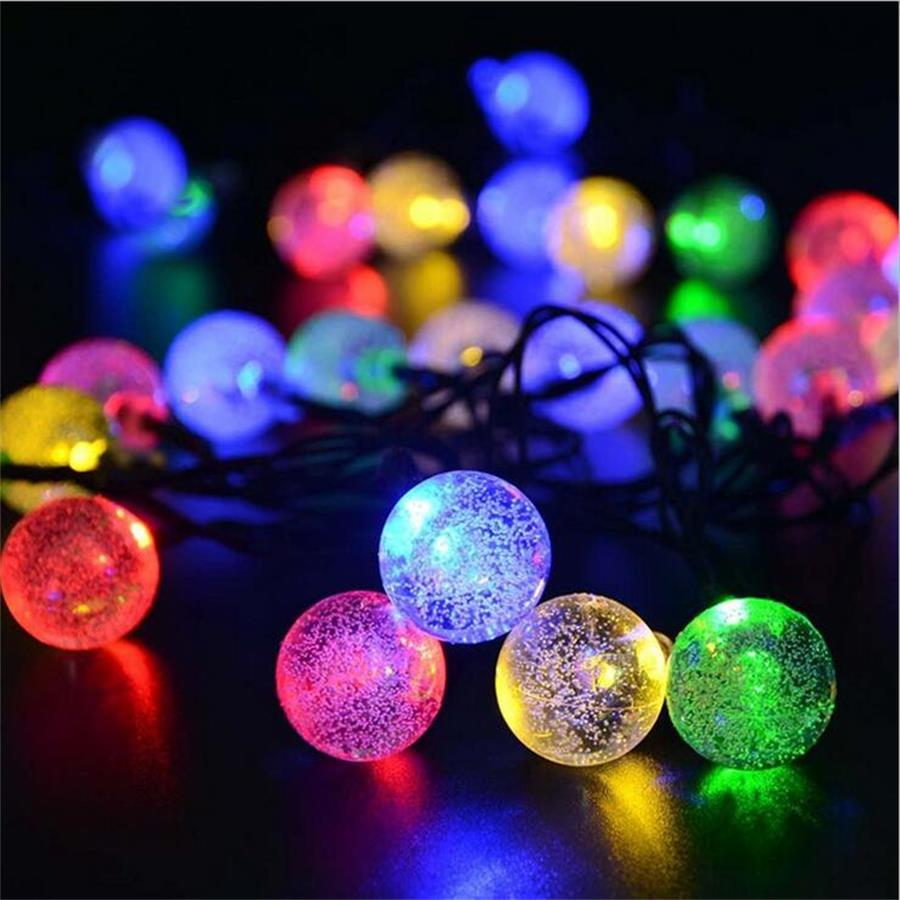 Solar LED String lamp ball Fairy Holiday light Strip Decor outdoor Garden Lawn Wedding Xmas Party solar string Ambiance light ...