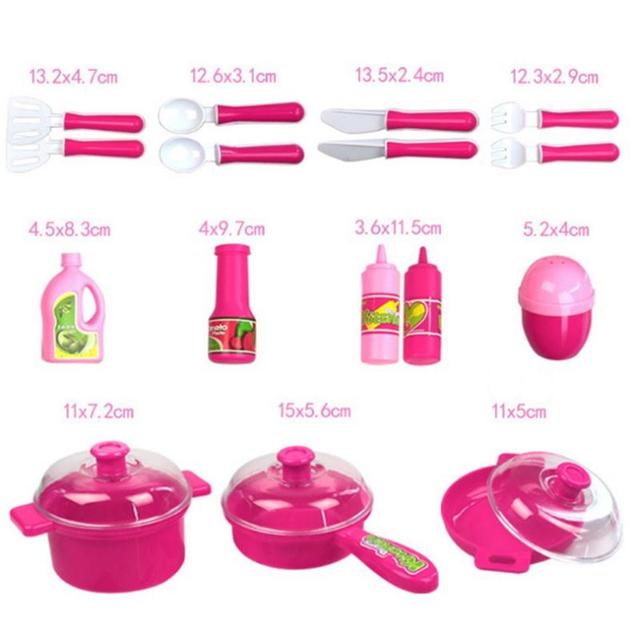 40Pcs/Set Kitchen Toy Cooking Children DIY Pretend Kitchen Role Play Toy Set Kids Educational Toys For Children