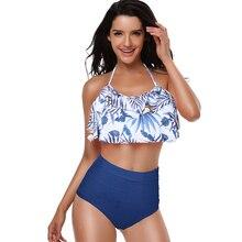 Swimwear Women Bikini 2019 Mujer High Waist Swimsuits Ruffles Bikinis Swimming Suit For Womens Push Up Bathing Suits Biquini