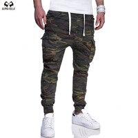 ALPHA KILLA Brand Men Pants Hip Hop Harem Joggers Pants Male Trousers Mens Joggers Camouflage Pants Sweatpants large size 4XL