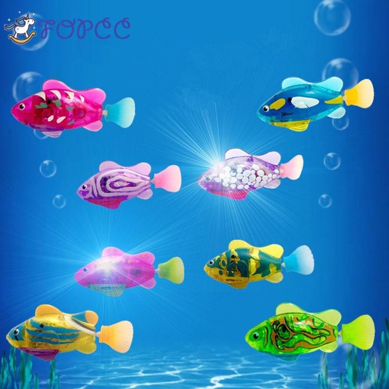 Luminous Fish Electronic Pets Boy Girl Toy Swim Electronic Pet Fish Swimming Bath Water Machine Toys Childrens Educational Toys