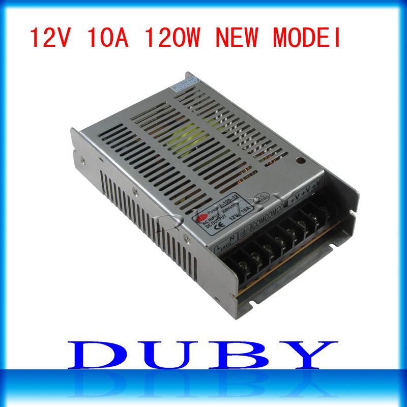 New Arrival 12V 10A 120W Switching power supply Driver For LED Light Strip Display AC100-240V  Factory Supplier  Free Shipping ac 85v 265v to 20 38v 600ma power supply driver adapter for led light lamp