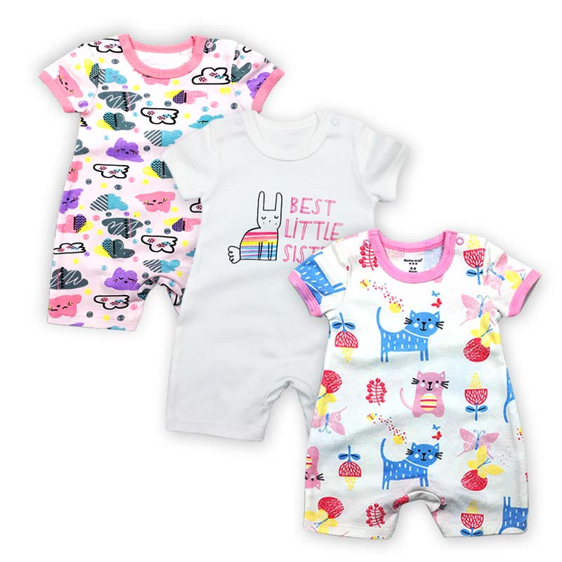 Newborn jumpsuits Baby Boy Girl Romper Clothes 3 Pieces/lot Short Sleeve Infant Product piece/lot Clothing