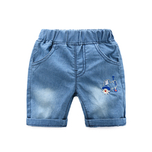 Boy Jeans Short Children Boys Shorts Brand Kids  For Trench Adjustable Breathable Summer Child