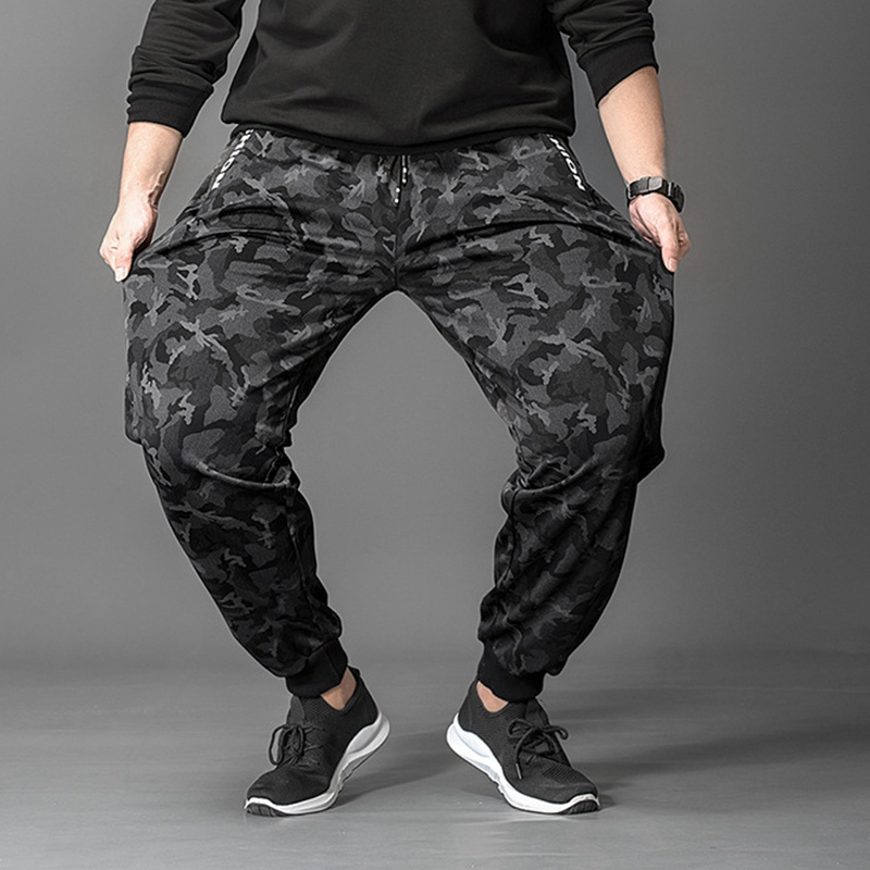 Image 3 - Зимние мужские флисовые тренировочные штаны камуфляжные спортивные штаны теплые с буквенным принтом размера плюс 6XL 7XL 8XL осенние спортивные штаны эластичные тянущиеся 50-in Спортивные брюки from Мужская одежда