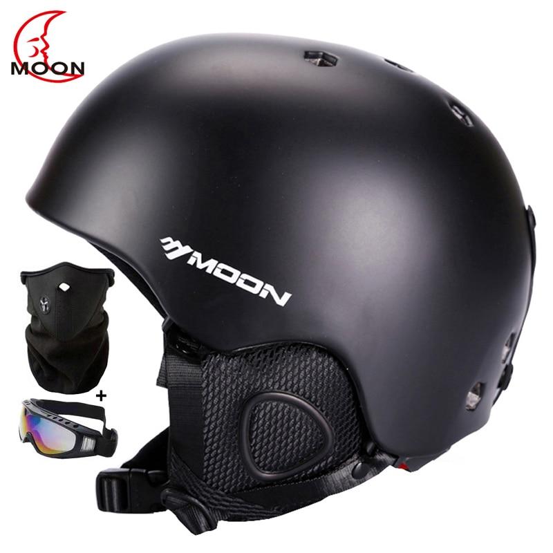 все цены на MOON CE Certification Skiing Helmet Ultralight Ski Helmet Extreme Sports Skateboard/Snowboard Helmet PC+EPS Size 52-64CM