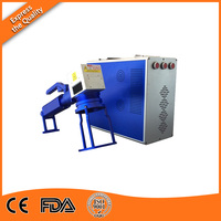 High Speed LCD Online Flying 20w Fiber Metal Laser Marking/Engraving Machine