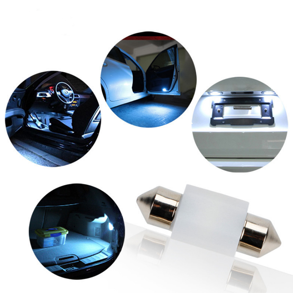 2x White 3030 SMD Chips Ceramics Car Canbus Error Free Lights Bulbs Backup Light 39MM 200LM 0 16A White Bulbs in Signal Lamp from Automobiles Motorcycles