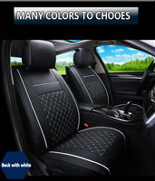 Free Shipping OCC SC Black white Leather universal fit car seat cover For car model Nissan Honda Ford BMW Audi Auto Seat Cushion