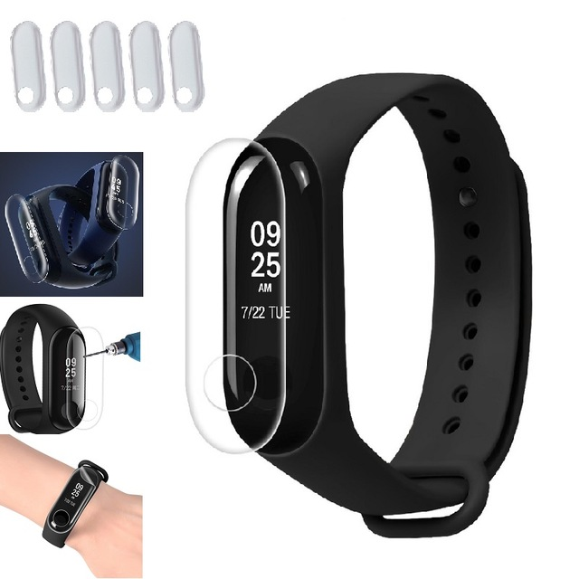 5pcs Screen Protector Film For Xiaomi Mi Band 3 Smart Wristband Bracelet Xiomi Mi Band 2 3 Protective Films Not Tempered Glass