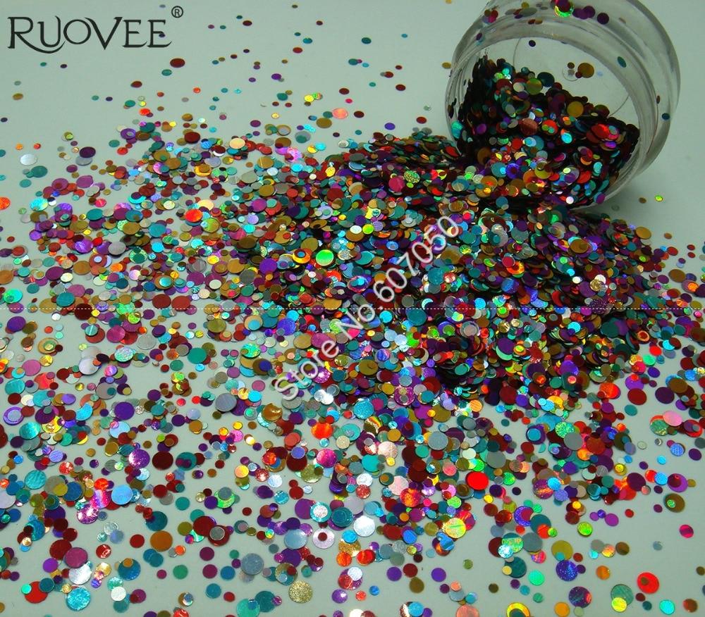 Glitter Mixte Rond Points Paillette Nail Sequin Glitter Paillettes Forme pour BRICOLAGE Artisanat Glitter Nail Art Gel Acrylique Maquillage décoration