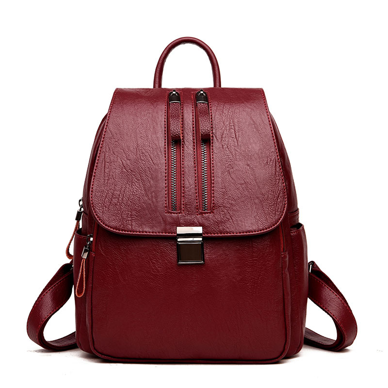 2018 New Soft Fashion Women Backpack PU Leather Backpack Female Shoulder Bag Bagpack Rucksack 2018 fashion women backpacks pu leather backpack shoulder bag daypack for women female rucksack