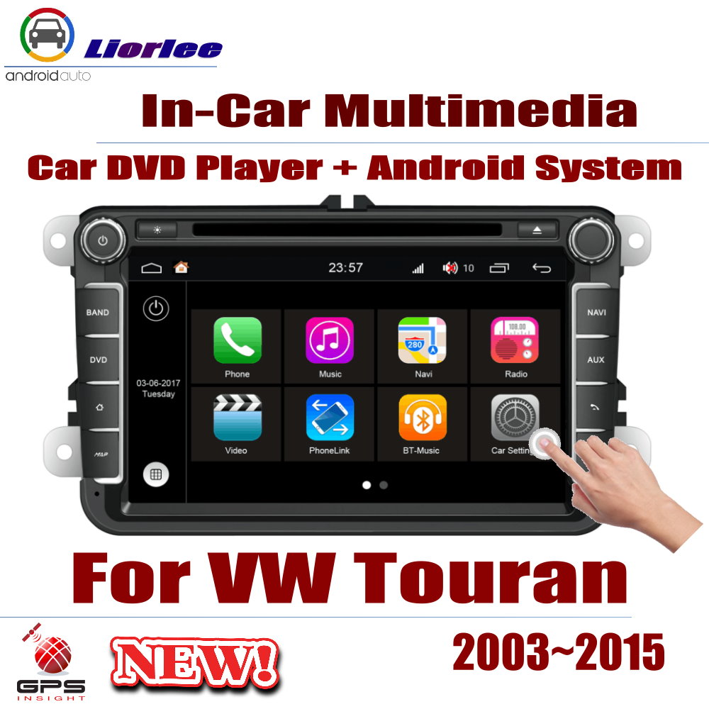 Car Radio Player GPS Navigation For Volkswagen VW Touran 2003~2015 Android Displayer System Audio Video Stereo In Dash Head Unit