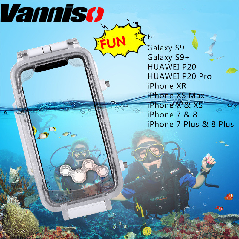 40 Meters Diving Waterproof Cases for iphone 6 6S 7 8Plus X XS MAX XR Professional Swimming Underwater Camera Shockproof Cover