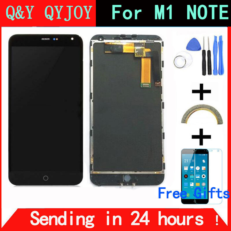 Q Y QYJOY For Meizu M1 Note touch screen Digitizer LCD Display For Meizu M1 Note