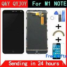 """Q & Y qyjoy для Meizu M1 Примечание сенсорный экран планшета + ЖК-дисплей Дисплей для Meizu M1 Note 5.5 """"телефона черный Цвет Бесплатная доставка"""