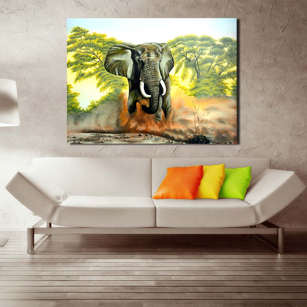 JQHYART Canvas Print Picture Home Decor Painting Running