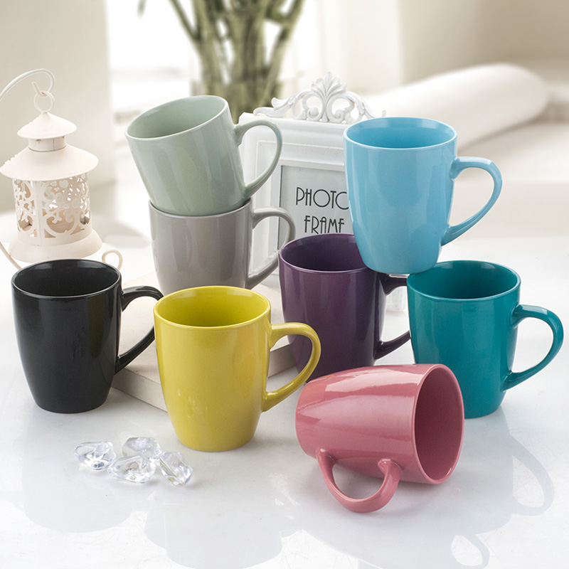 Glaze Coffee Milk Mug Water Tea Mugs Drinkware Simple Cafe Oatmeal Coffee Mug Drinking Cups Ceramic Colored