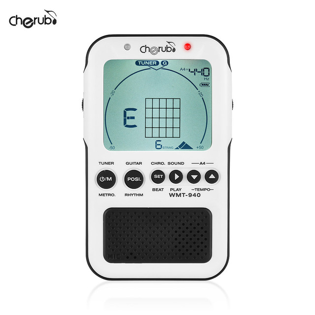Cherub Wmt 940 4 In 1 Guitar Chord Tool Chromatic Tuner