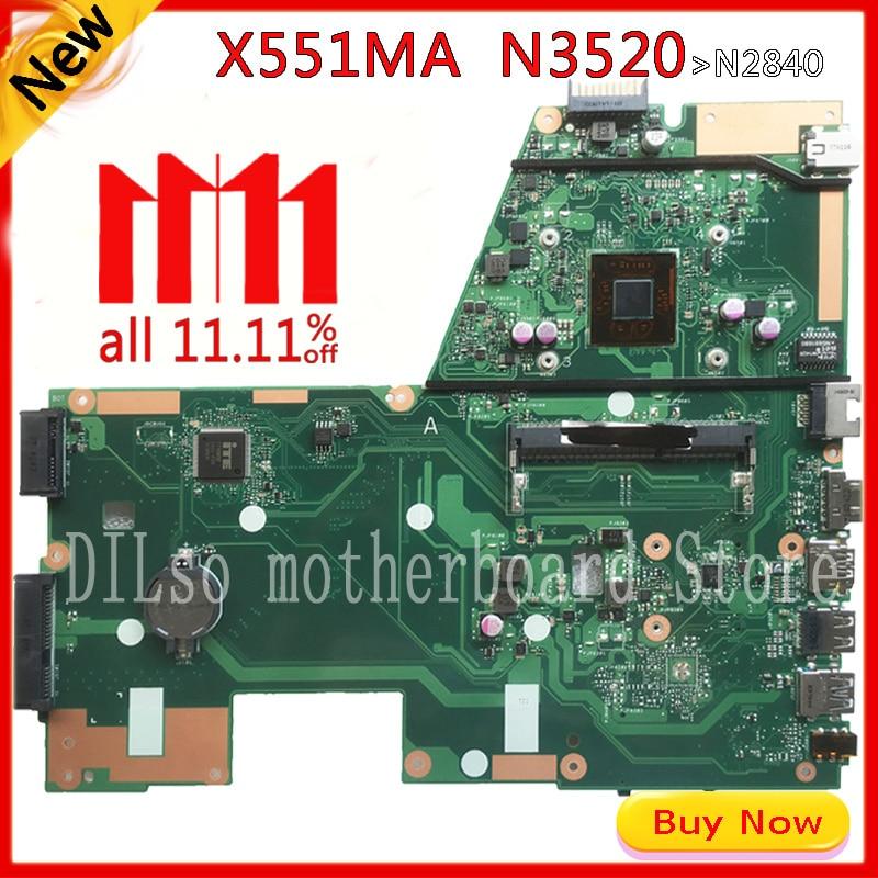 KEFU x551ma ASUS X551MA klēpjdatora mātesplates N3520 F551MA mātesplates 90NB0480-R00100 REV2.0 tests