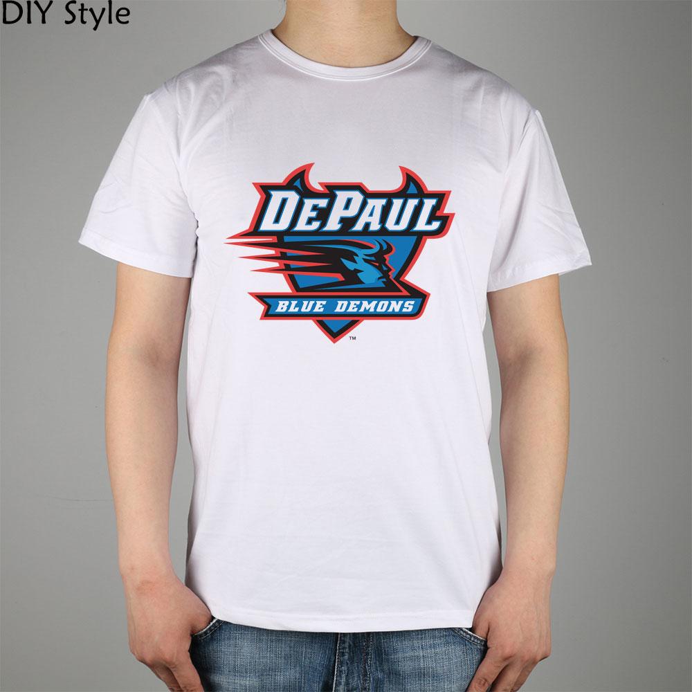 Color printing depaul - Demons Blue Devils Depaul Logo Men Short Sleeve T Shirt New Arrival Fashion Brand T