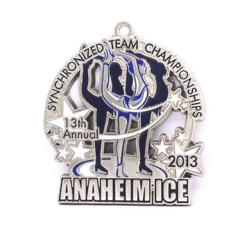 Ice Dancing Enamel medal low price Silver Award Souvenir Medal of Freedom Masters