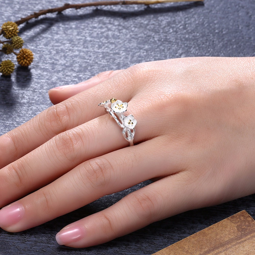 Aliexpress.com : Buy INALIS 925 Sterling Silver Cherry Blossom ...