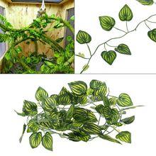 Fake-Plants Terrarium Climb-Decoration Reptile-Lizards Vine Leaves Artificial-Watermelon