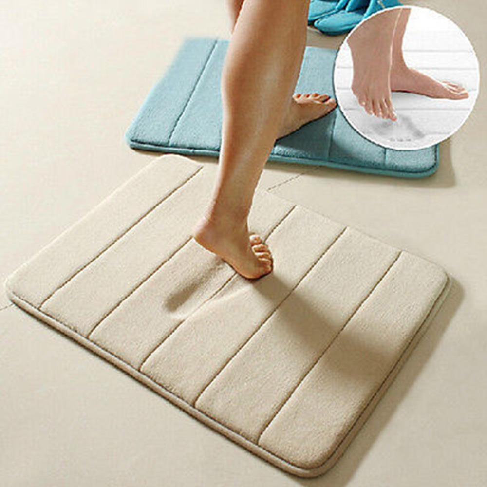 Simple Design Memory Foam Bath Mat Soft Warm And Strong Anti Slip In The Bathroom Bedroom Stripes Tapis De Bain 40 60cm Mats From Home