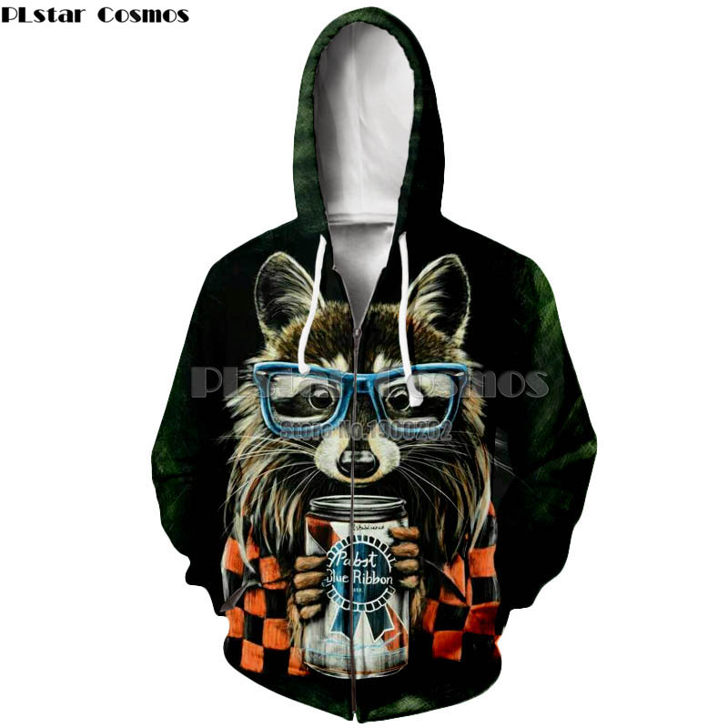 PLstar Cosmos Raccoon hoodie 3d animal print cute raccoon wear glasses hoodie vibrant women men sweatshirt tops in Hoodies amp Sweatshirts from Men 39 s Clothing
