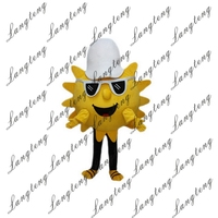 2018 New Hot Sale SUN Mascot Costume Adult Size Halloween Outfit Fancy Dress Suit Free Shipping