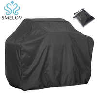 portable waterproof bbq grill cover black outdoor Rain Barbeque Grill Barbacoa Anti Dust Protector cover Barbecue accessories|Furniture Accessories| |  -