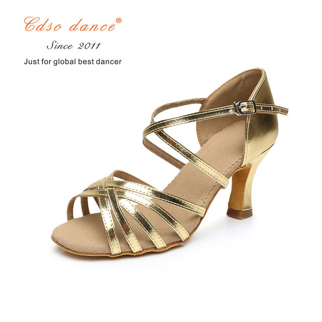 gold 5.5cm heel