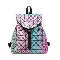 F Women Backpack 2016 BaoBao Backpack Female Fashion Girl Daily Backpack Geometry Package Sequins Folding Bags