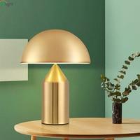 Modern Mushroom Led Table Lamp Lustre Gold Metal Bedroom Led Table Lights Living Room Led Table Light Fixtures Office Desk Lamp
