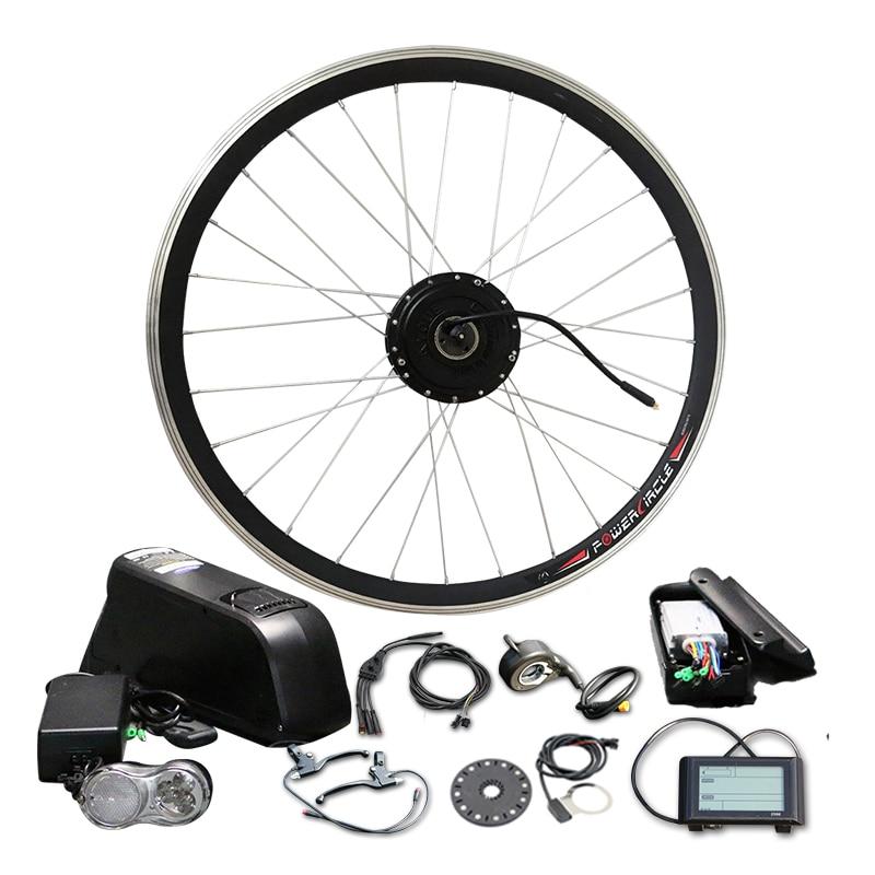 цена на Powerful 48V 10/12/16Ah with Battery 500W 350W LCD900 Electric Motor LG SAMSUNG Bottle Cell Bike Conversion Kit MTB RoadBicycle1