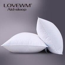 De una pieza de dormir almohada para adultos 100% algodón relleno de fibra de poliéster cuello pilllows textiles para el hogar 48*74 cm de alto calidad
