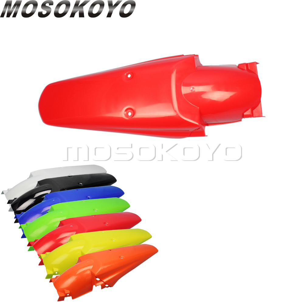 Motorcycle Plastic Rear Fender Enduro Dirt Bike Tail Mudguards Mud Guard Cover for Honda CRF XR CR 125 250 450 500 Red