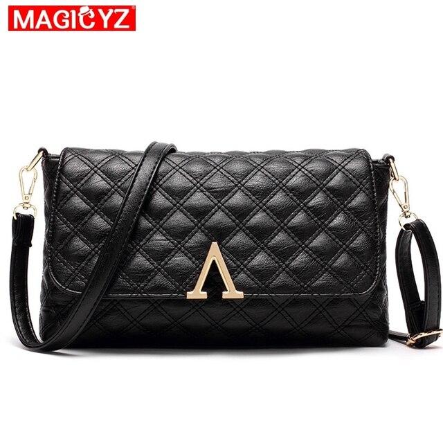 20ec2a3e989e MAGICYZ Women Plaid Messenger Bags V letter Designer Quilted Handbags  Shoulder Women Crossbody Bag Ladies Envelope