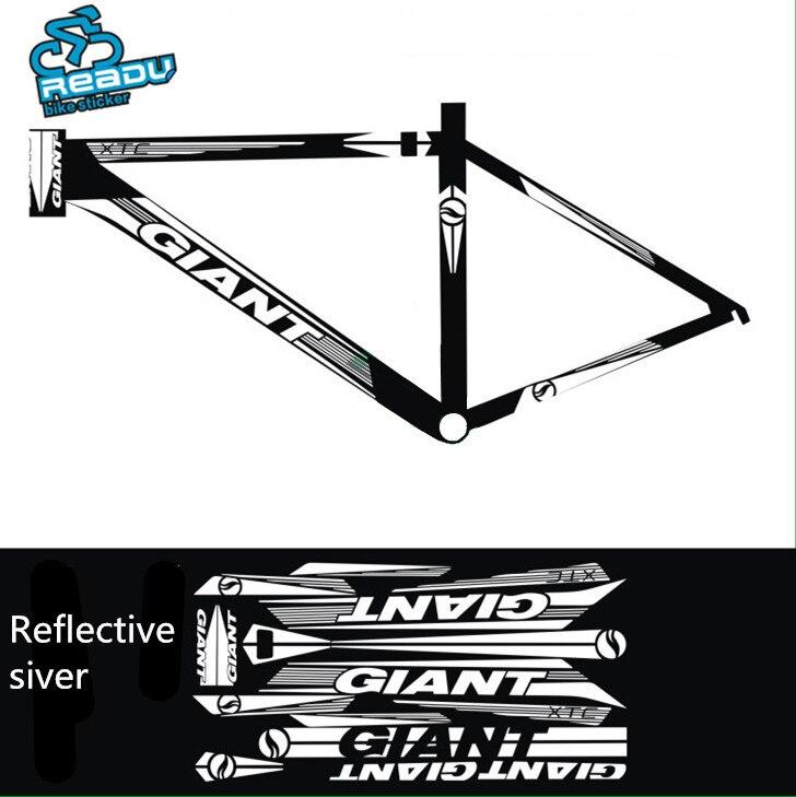 2017 Vélo Accessoires Vélo Stickers Cadre Stickers Eau Protecteur Vélo Autocollants Autocollants Réfléchissants