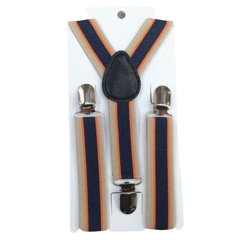 Stripes Baby Boys Children Clip-on Suspender Y-Back Child Elastic Suspenders 2-8Y