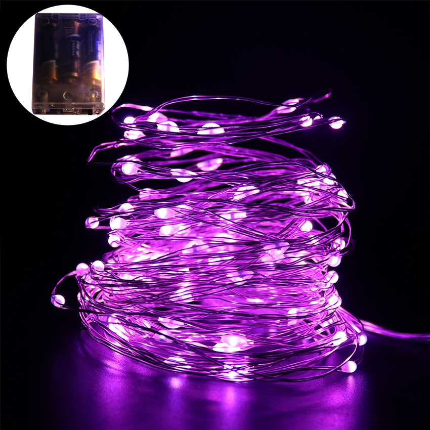 AA Battery led string 2M 3M 5M 10M Christmas Holiday Wedding Party Decoration Festi Silver copper Wire String Fairy Lights Lamps outdoor lighting 2m 3m 5m 10m led battery powered led silver fairy string lights decorative christmas holiday wedding and party