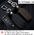 Genuine Leather CAR KEY CASE For VOIKSWAGEN SAGITAR BORA TIGUAN PASSAT NEW JETTA Use Automobile Special-purpose CAR KEY HOLDER