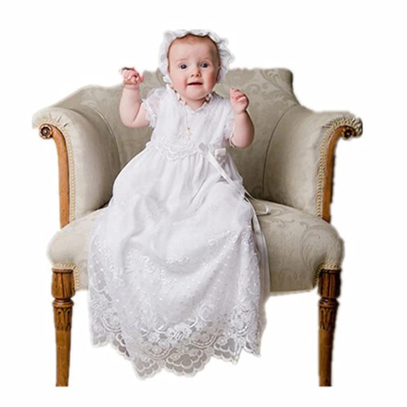 Bbwowlin Palais Style Blanc Bapteme Bebe Fille Robes De Bapteme Longue Dress Avec Chapeau Dentelle Et Perle Reine Des Neiges 90135 Aliexpress