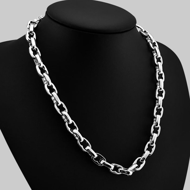 Man lock pendant necklace jewelryhip hop style solid 925 sterling man lock pendant necklace jewelryhip hop style solid 925 sterling silver necklace men aloadofball Gallery
