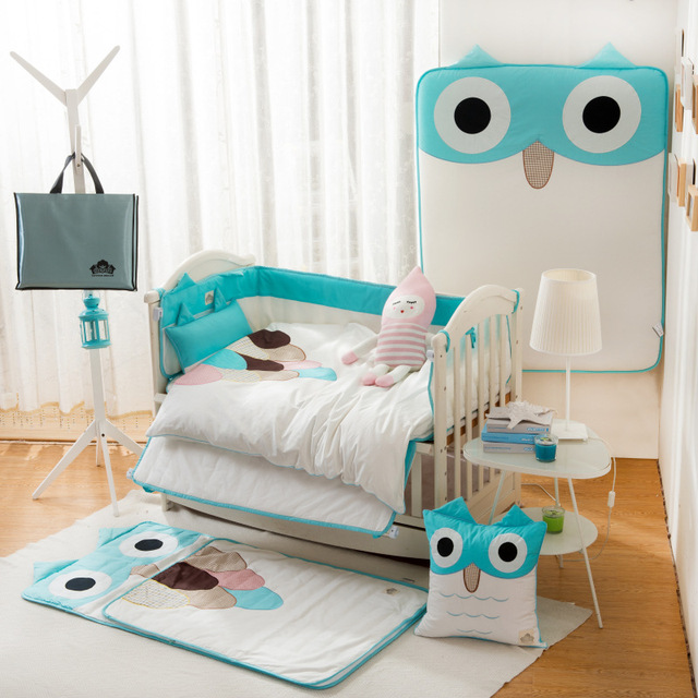 New Arrived Hot 5pcs/Set Baby Bedding Set Include Pillow+Mattress+Quilt Cover