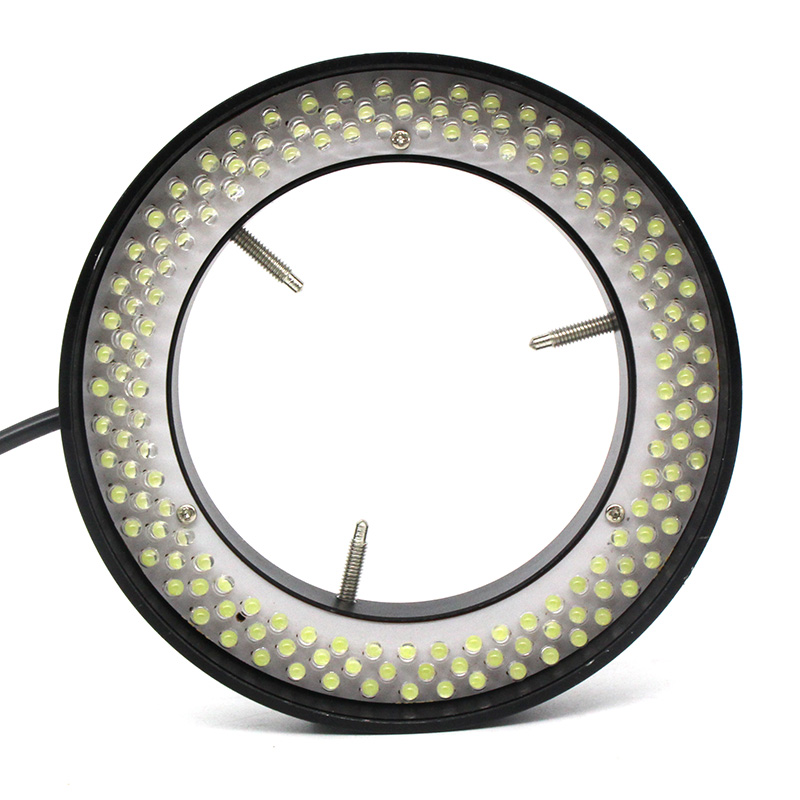 156 LED Adjustable Ring Light Illuminator Lamp 90 264V for Industry Stereo Microscope with AC Power