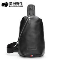 2018 BISON DENIM Top Genuine Leather Men S Shoulder Bags Brand Men Messenger Bag Travel Casual