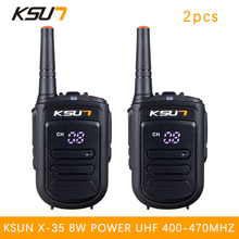 2 PCS BUXUN X-35TFSI Walkie Talkie 8W Handheld Pofung UHF 8W 400-470MHz 128CH Two way Portable CB Radio